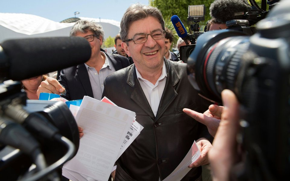 candidato à presidência da França Jean-Luc Mélenchon