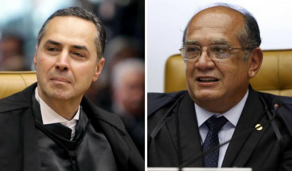 Luis Roberto Barroso e Gilmar Mendes