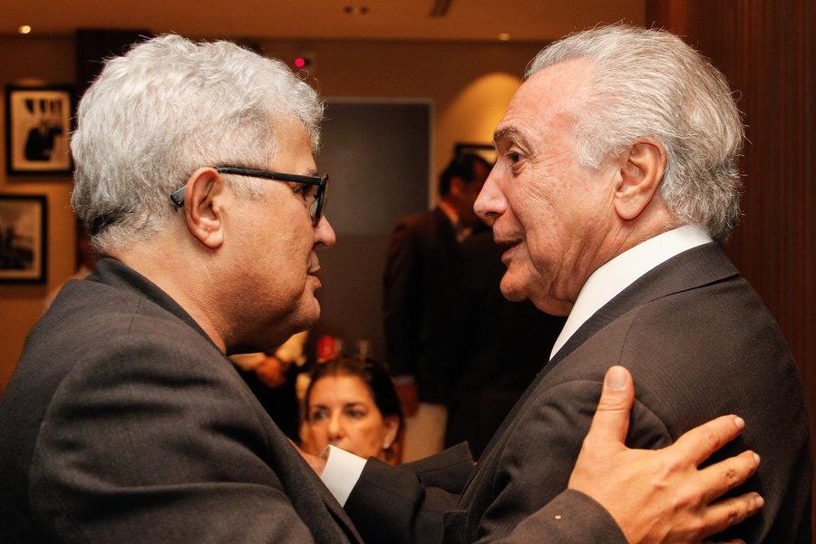 (Brasília, DF - 07/03/2017) Presidente Michel Temer durante o aniversário do jornalista Ricardo Noblat no restaurante Piantella. Foto: Beto Barata/PR