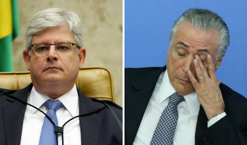 Rodrigo Janot e Michel Temer