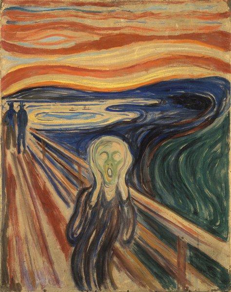Tela o Grito, de Edvard Munch