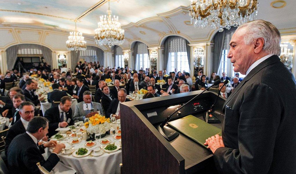 Nova Iorque - EUA, 21/09/2016. Presidente Michel Temer durante almoço ampliado com Empresário e Investidores, promovido pelo Conselho das Américas. Foto: Beto Barata/PR