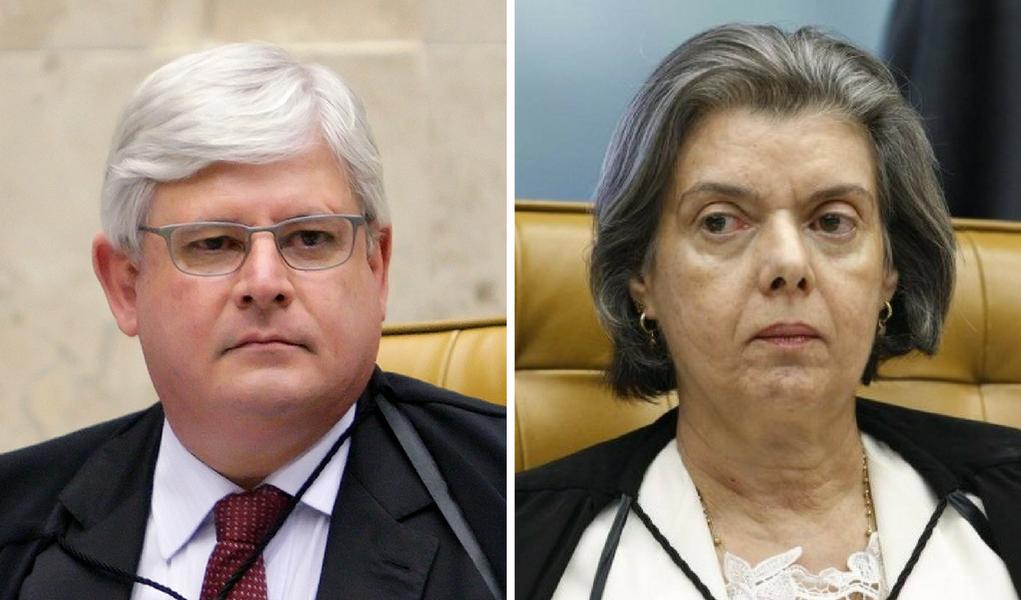 Rodrigo Janot e Cármen Lúcia