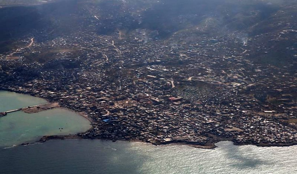 A general view after Hurricane Matthew hit Jeremie, Haiti, October 10, 2016. REUTERS/Carlos Garcia Rawlins