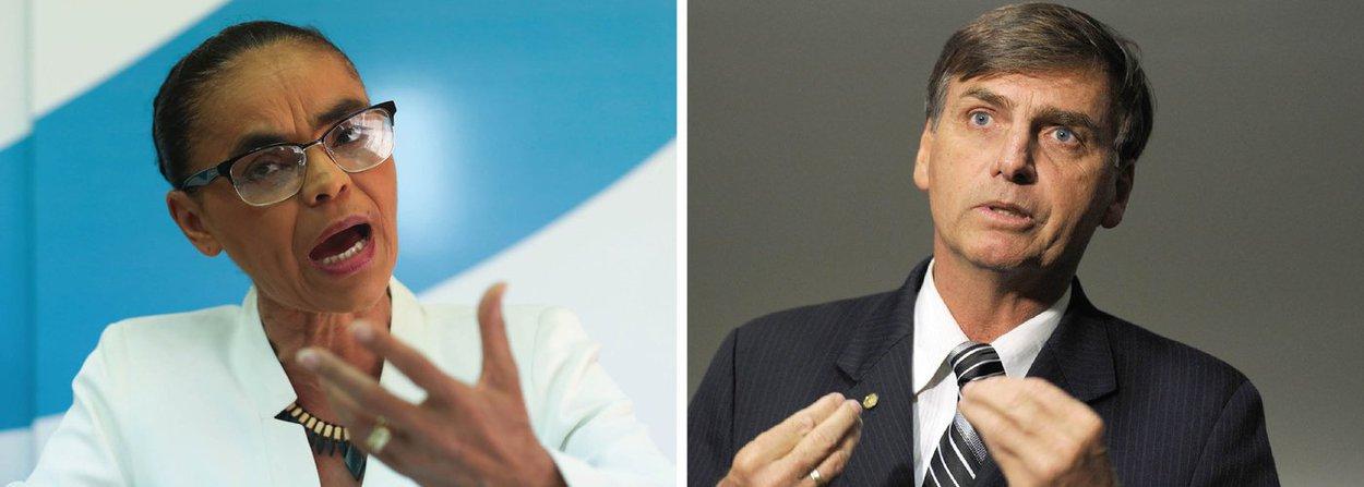 Marina e Bolsonaro