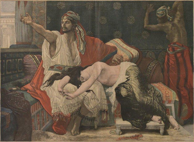 Onan and Tamar 1892, pintura de Alexandre Cabanel