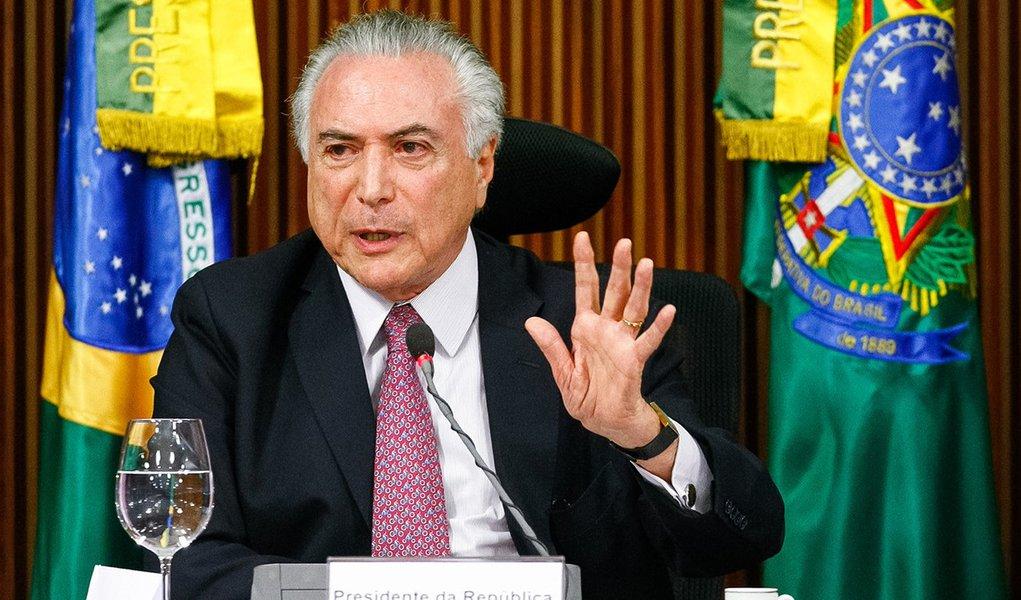 Brasília - DF, 20/06/2016. Presidente em Exercício Michel Temer durante reunião com governadores das unidades federativas do Brasil. Foto: Marcos Corrêa/PR