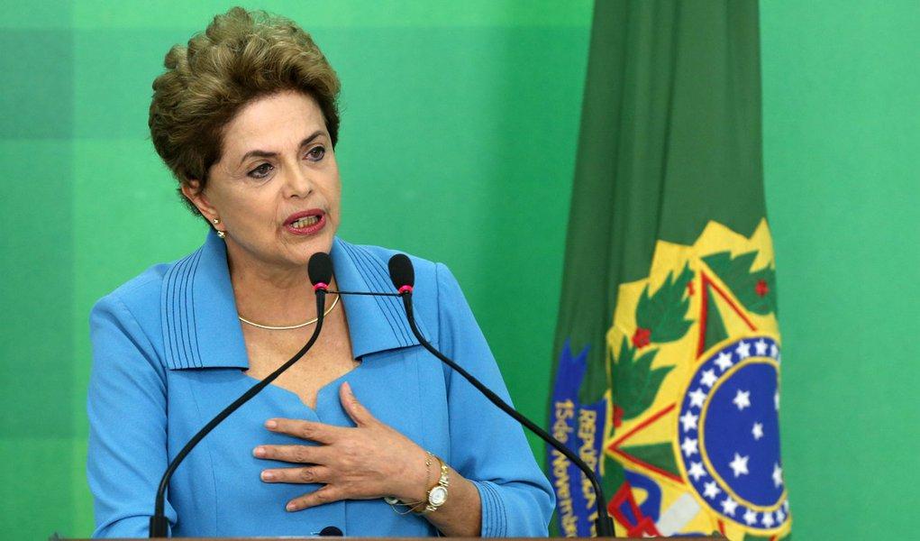 Brasília- DF 18-04-2016 Presidenta, Dilma, durante coletiva no Planalto. Foto Lula Marques/Agência PT