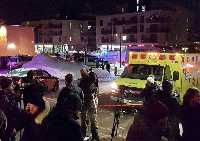 tiroteio em mesquita em Quebec, no Canadá
