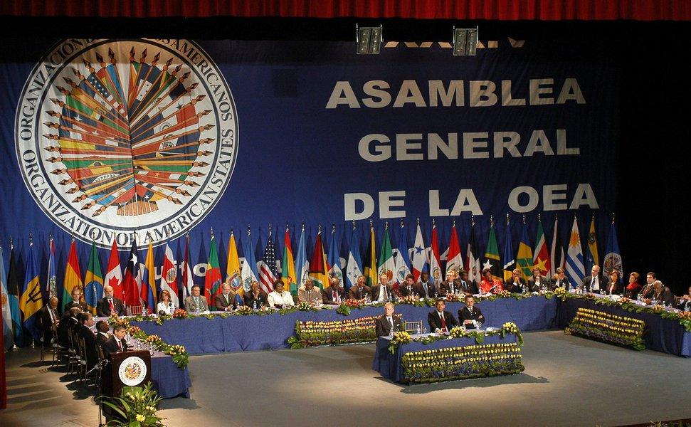 QUI17 - QUITO (ECUADOR) - 06/06/04 - Vista general de la inauguraci�n de la XXXIV Asamblea General de la Organizaci�n de Estados Americanos (OEA)