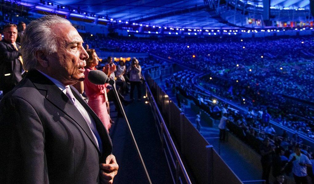 Rio de Janeiro - RJ, 07/09/2016. Presidente Michel Temer e a Primeira-dama Marcela Temer durante cerimônia de abertura dos Jogos Paralímpicos Rio 2016. Foto: Beto Barata/PR