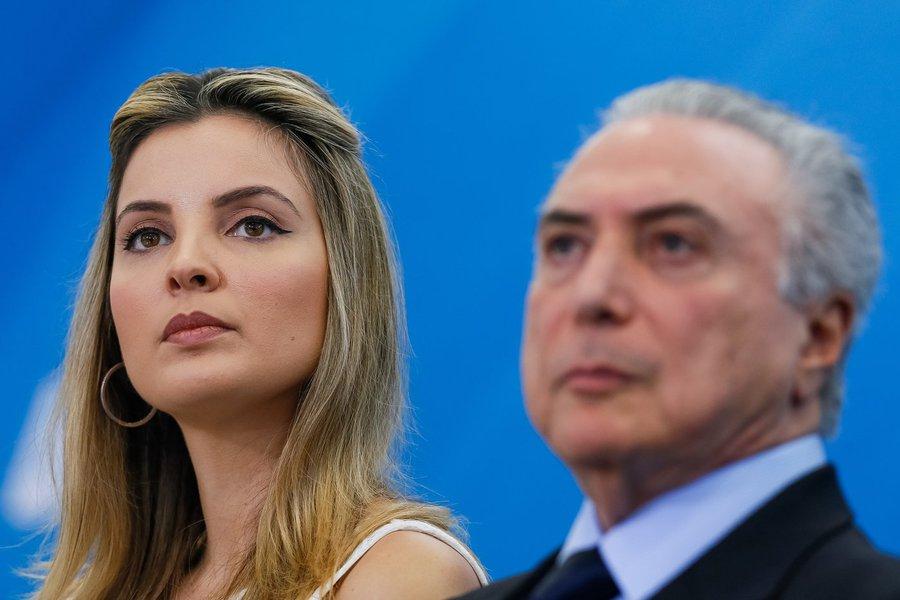 Brasília - DF 05/10/2016. Presidente Michel Temer e a Primeira-dama Marcela Temer durante cerimônia de Lançamento do Programa Criança Feliz. Foto: Beto Barata/PR