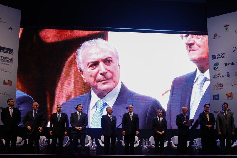 Presidente Michel Temer durante Sessão de Abertura da Conferência Potencial da Diáspora Libanesa da América Latina. (São Paulo - SP 27/11/2016) Foto: Beto Barata/PR
