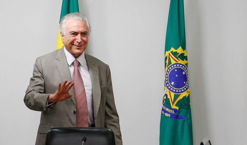 Brasília - DF, 28/09/2016. Presidente Michel Temer durante 111ª Reunião do Conselho da Câmara de Comércio Exterior - CAMEX Foto: Marcos Corrêa/PR