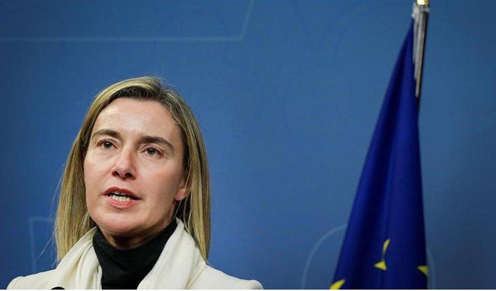Chefe da política externa da União Europeia, Federica Mogherini. 10/10/2016 TT News Agency/Janerik Henriksson/via REUTERS