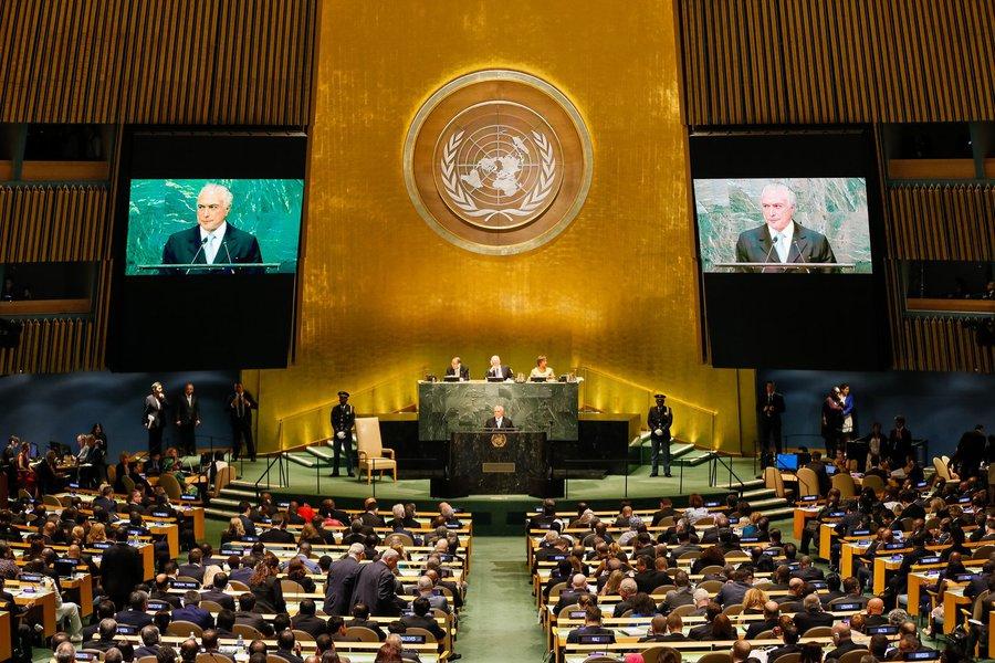 Nova Iorque - EUA, 20/09/2016. Presidente Michel Temer durante abertura do Debate Geral da 71ª Assembleia Geral das Nações Unidas - ONU. Foto: Beto Barata/PR