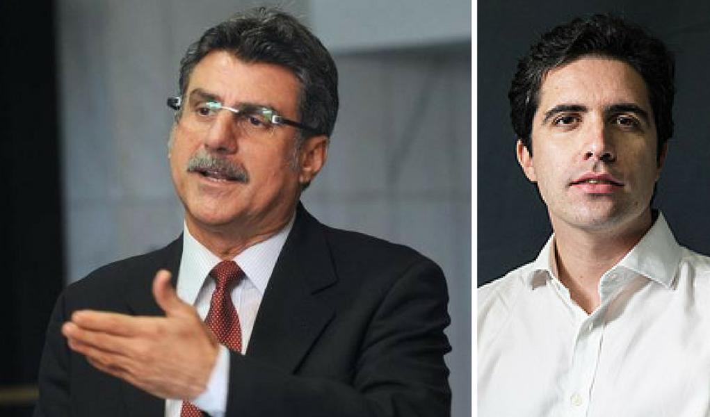 Romero Jucá e Bernardo mello Franco