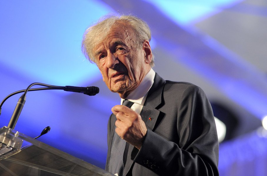 Elie Wiesel, founding chairman of the US Holocaust Memorial Museum, speaks during a ceremony to celebrate the museum's 20th anniversary in Washington, DC on April 29. 2013. AFP PHOTO/Jewel Samad (Photo credit should read JEWEL SAMAD/AFP/Getty Images)