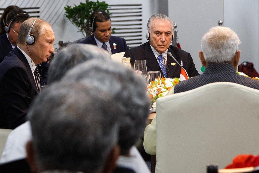 Goa - Índia, 16/10/2016. Presidente Michel Temer, durante encontro privado dos Chefes de Estado e de Governo do BRICS. Foto: Isac Nóbrega/PR