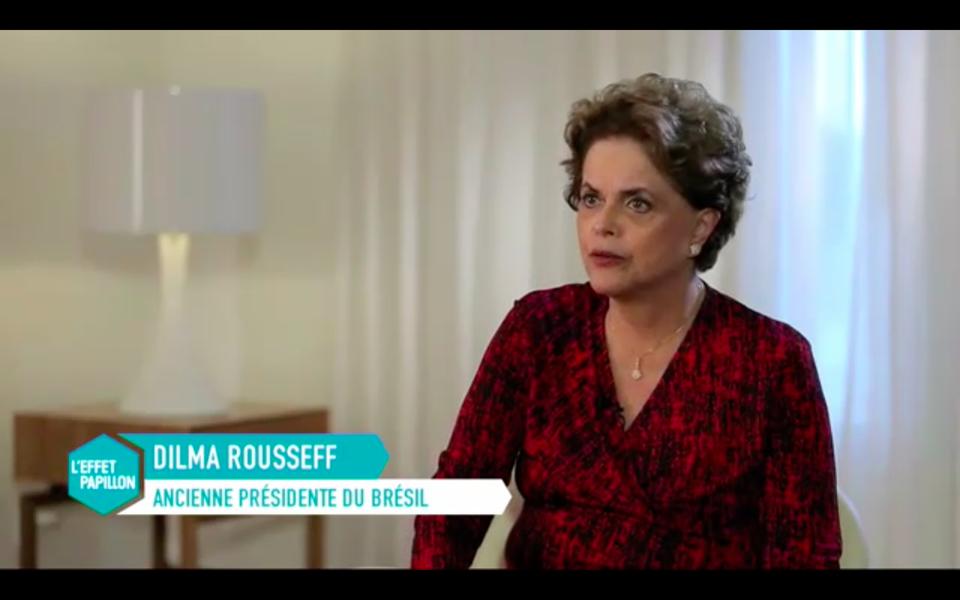 Dilma Rousseff em entrevista à televisão francesa