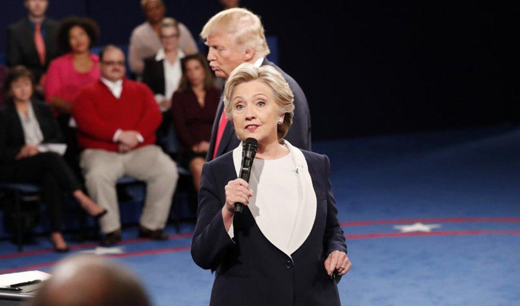 Hillary Clinton speaks. REUTERS/Rick Wilking