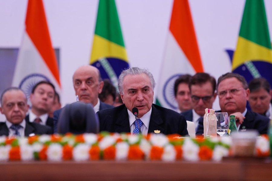 Presidente Michel Temer, durante sessão Plenária dos Chefes de Estado e de Governo do BRICS. (Goa - Índia, 16/10/2016). Foto: Beto Barata/PR