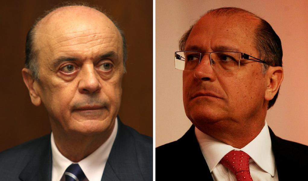 José Serra e Geraldo Alckmin