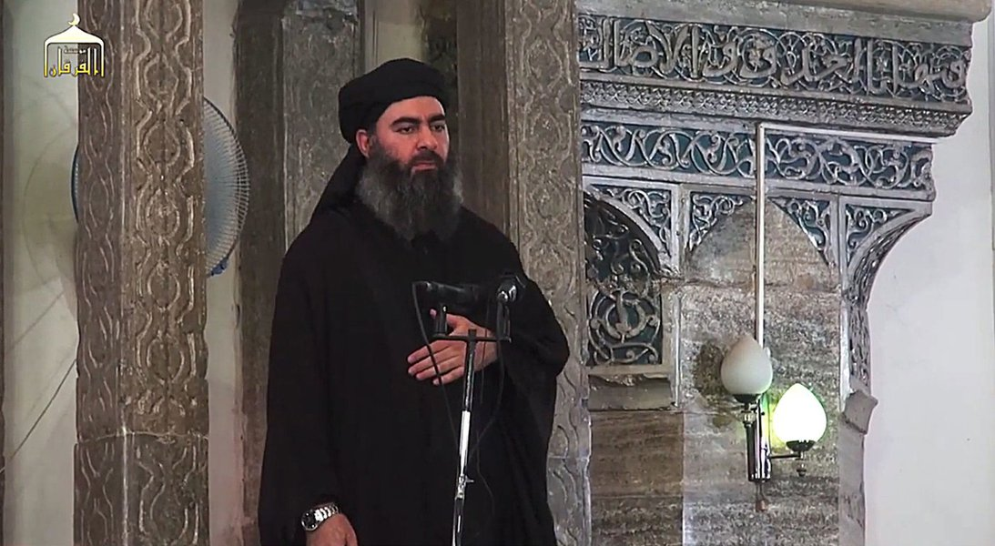 Líder do grupo extremista Estado islâmico,Abu Bakr al Baghdadi