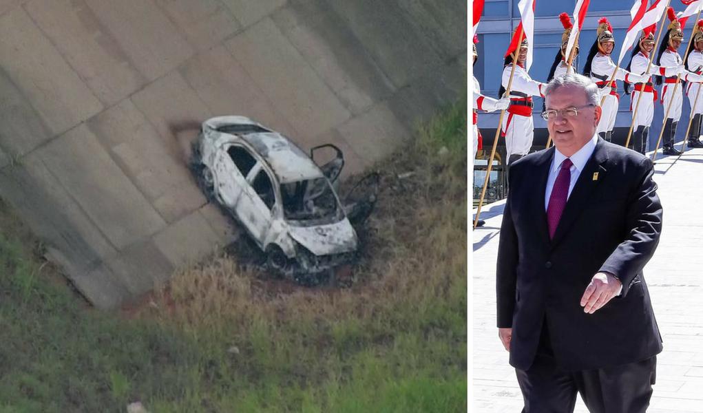 embaixador grego carro carbonizado