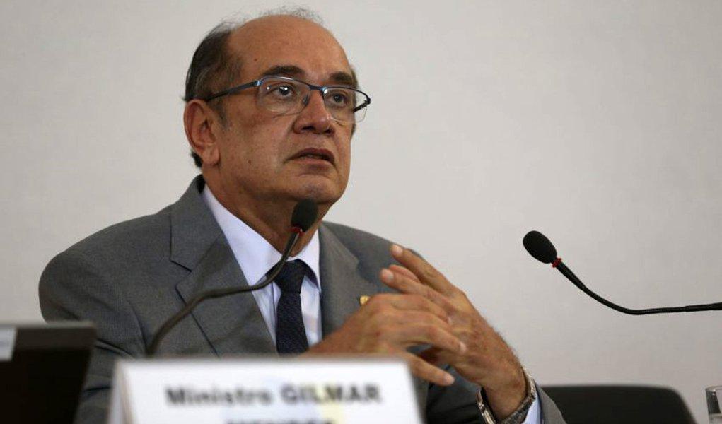 Bras�lia - o presidente do Tribunal Superior Eleitoral (TSE), ministro Gilmar Mendes, fala aos jornalistas sobre elei��es 2016 (Jos� Cruz/Ag�ncia Brasil)