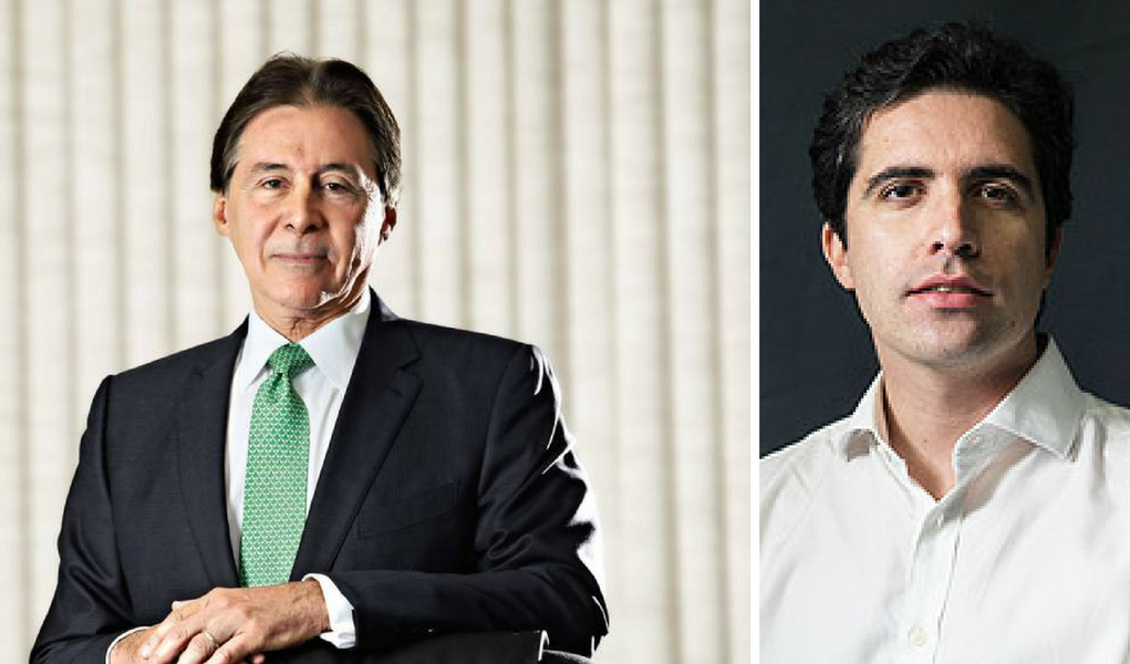 Eunício Oliveira e Bernardo Mello Franco