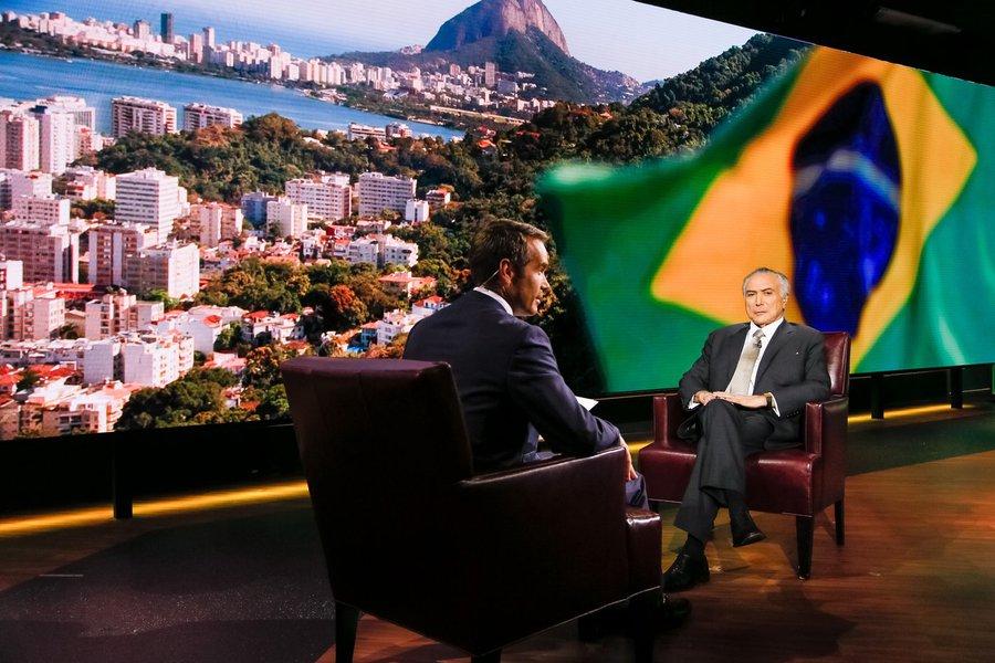 Nova Iorque - EUA, 19/09/2016. Presidente Michel Temer durante visita à Bloomberg. Foto: Beto Barata/PR