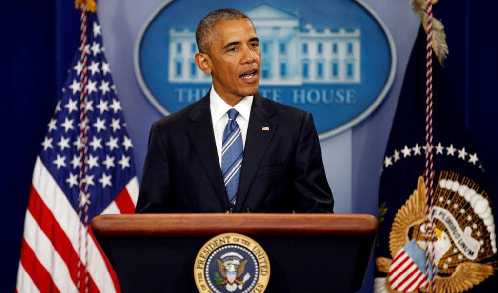 Presidente dos Estados Unidos, Barack Obama, durante entrevista coletiva em Washington. 23/06/2016 REUTERS/Carlos Barria