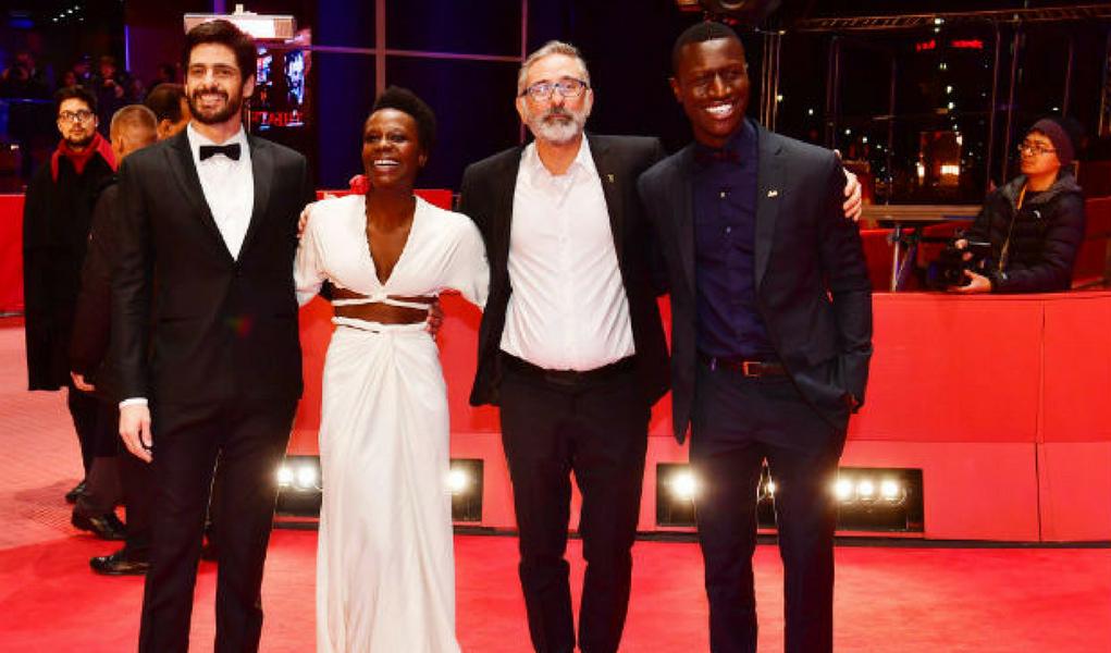Equipe do filme Joaquim no festival de cinema de Berlim
