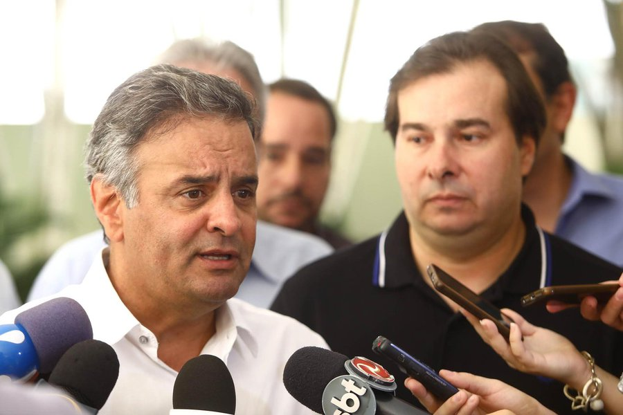 Aécio Neves Rodrigo Maia