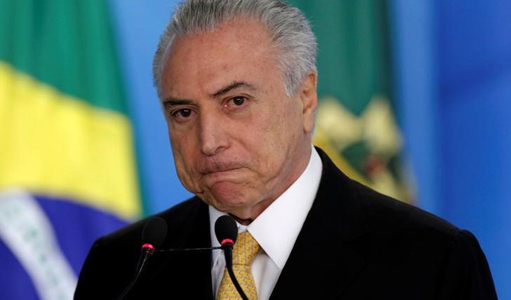 Michel Temer durante evento no Palácio do Planalto. 14/7/2016. REUTERS/Ueslei Marcelino