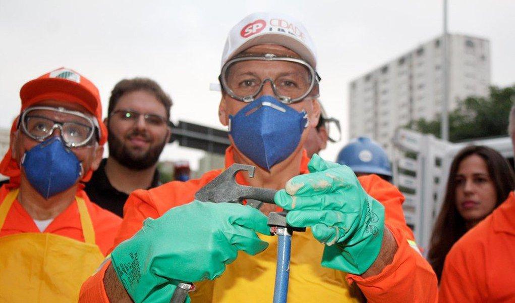 Doria participou neste sábado de mais uma ação da Operação Cidade Linda