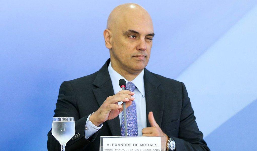 Brasília - O ministro da Justiça e Cidadania, Alexandre de Moraes, apresenta detalhes do Plano Nacional de Segurança ( Marcelo Camargo/Agência Brasil)