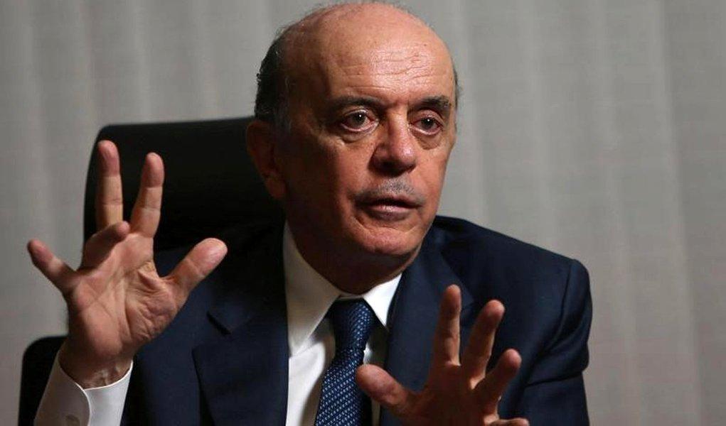 Ministro das Relações Exteriores, José Serra, durante entrevista à Reuters em Brasília 14/07/2016 REUTERS/Adriano Machado
