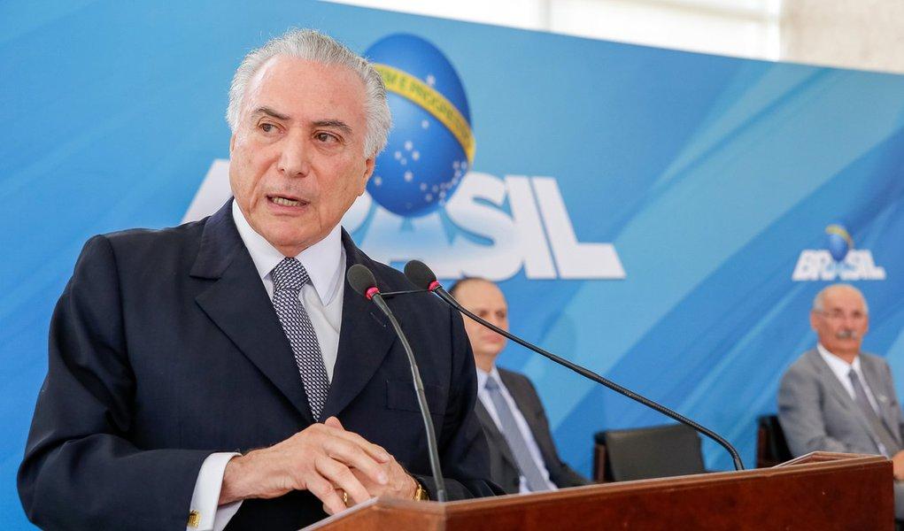 Brasília - DF, 14/09/2016. Presidente Michel Temer durante cerimônia de anúncio de novas ações de gestão para a melhoria da saúde pública. Foto: Marcos Corrêa/PR
