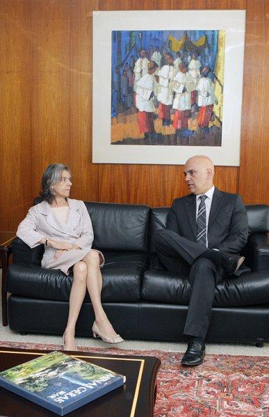 Presidente do STF, Cármen Lúcia, e ministro da Justiça, Alexandre de Moraes, discutem crise prisional no Amazonas (04.01.2017)