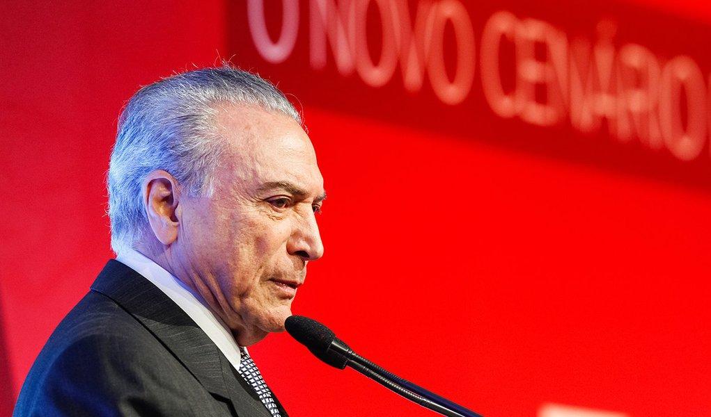 São Paulo - SP, 30/09/2016. Presidente Michel Temer, durante Solenidade de Abertura da 8ª edição do Exame Fórum. Foto: Beto Barata/PR