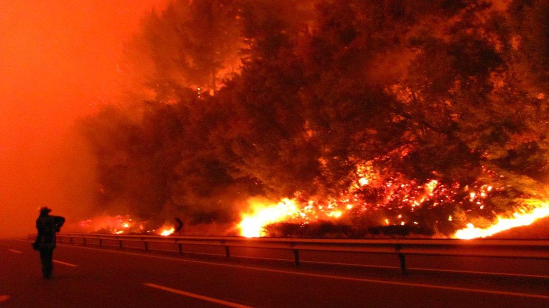 Incêndio florestal em Valparaíso, Chile