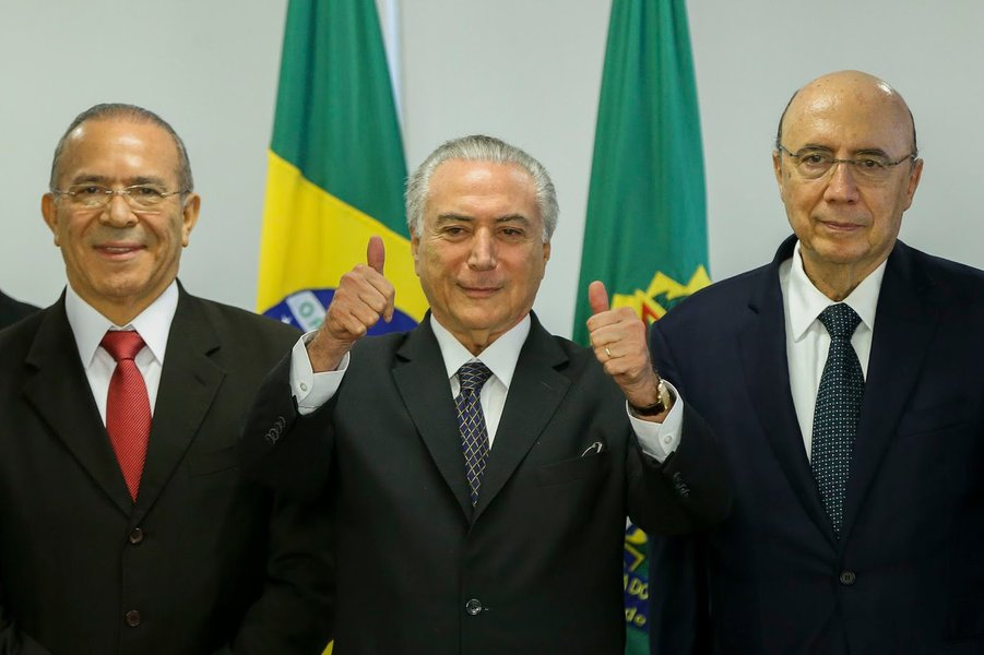 Eliseu Padilha, Michel Temer e Henrique Meirelles