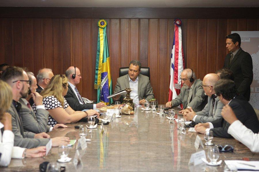 Governador Rui Costa em audi�ncia com presidente do Parlamento alem�o, Sr. Norbet Lamert e o Embaixador da Alemanha no Brasil, Sr. Georg Witeschel