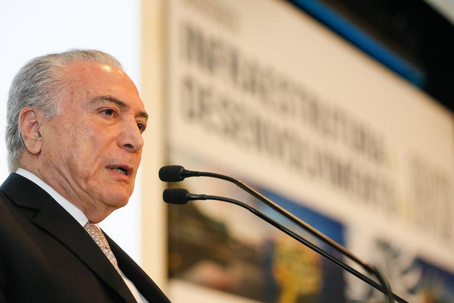Brasília - DF, 08/11/2016. Presidente Michel Temer durante Seminário de Infraestrutura e Desenvolvimento do Brasil. Foto: Beto Barata/PR