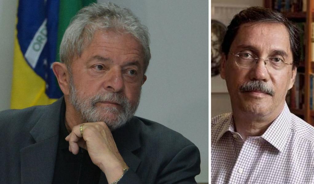 Lula e Merval Pereira