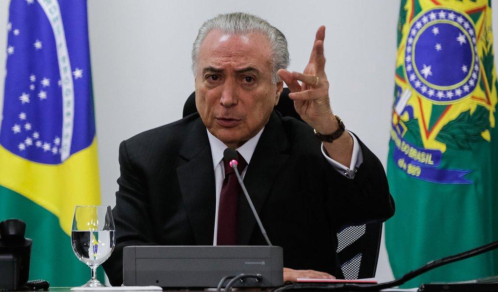 (Brasília - DF 06/12/2016) Presidente Michel Temer durante encontro com Representantes do Conselho do SESI e CNI. Foto: Marcos Corrêa/PR