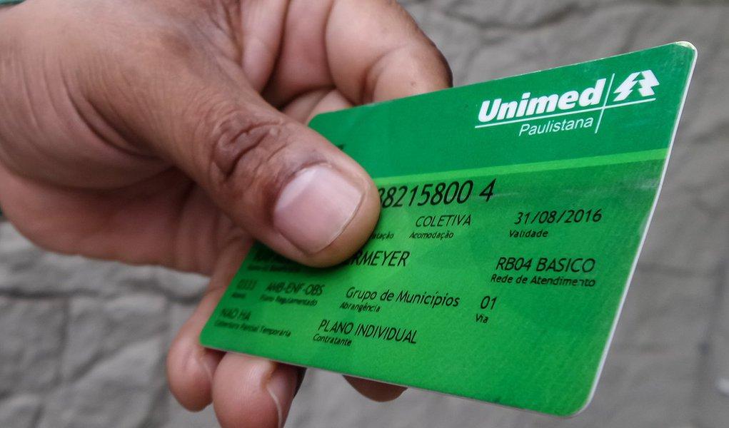 Cartão do Plano de Saúde da Unimed Paulistana. Foto: Rafael Neddermeyer/ Fotos Públicas