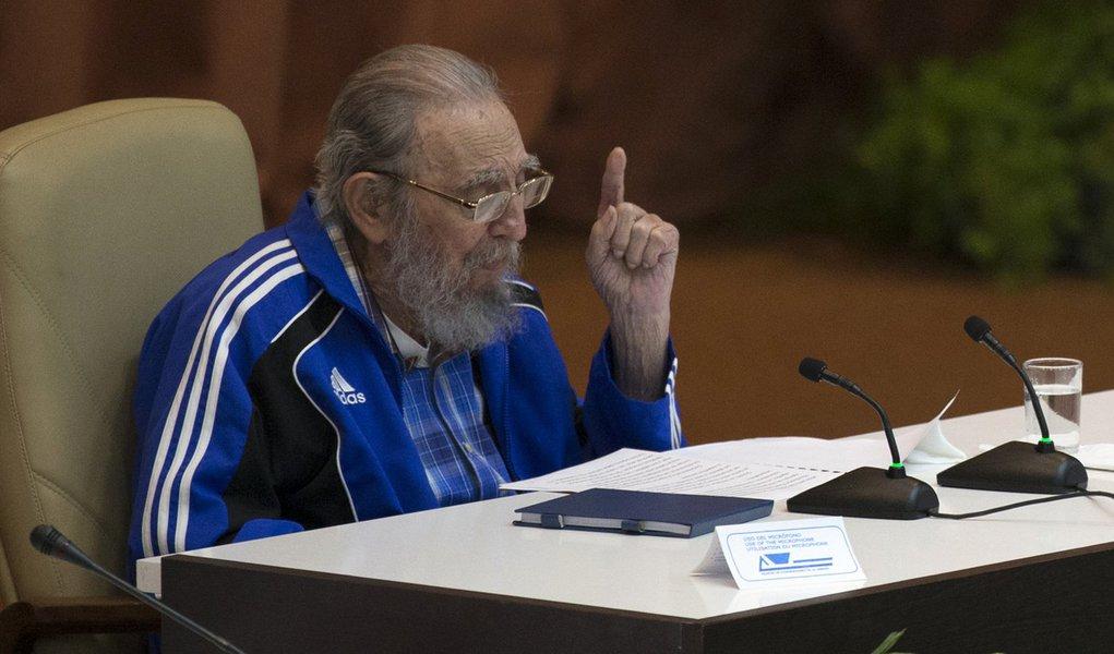 Havana- Cuba- 19/04/2016- Fidel Castro asiste a la Clausura del VII Congreso del Partido. Foto: Ismael Francisco/ Cubadebate
